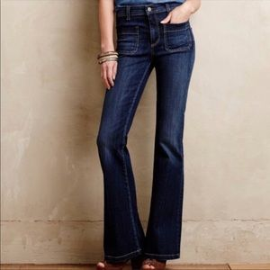 Pilcro (Anthro) High Waist Flare Jean